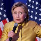 Trouble ahead: US presidential candidate Hillary Clinton speaking in Washington last week Photo: Getty Images