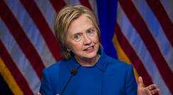 'Bill begged Hillary in 2015 to address a St Patrick's Day event at a university but her team made it clear white Catholics were not the audience she needed to reach out to' Photo: AP