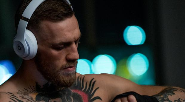 Hip-hop influence: Conor McGregor in a scene from the promotional film he made for Beats by Dre