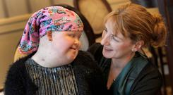 Leitrim Carer of the Year Mary Doherty and her 12-year-old daughter Niamh. Photo: Mark Stedman