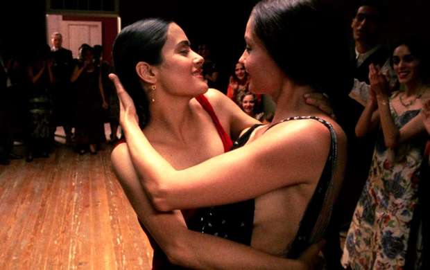 Scene change: Ashley Judd and Salma Hayek in Frida. Hayek says she had a 'nervous breakdown' on the day the two actresses filmed a lesbian love scene that she claims producer Harvey Weinstein had coerced them to perform. Photo: Miramax