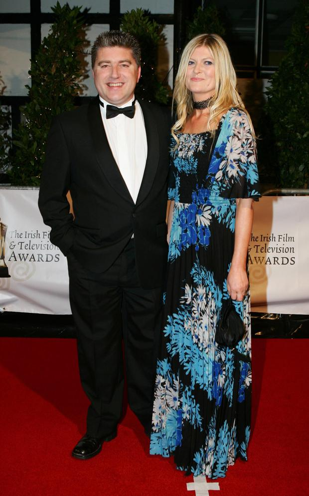 Pat and his wife Caroline on the one occasion she turned up at the IFTAs