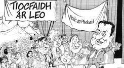 Feile an Phobail cartoon.