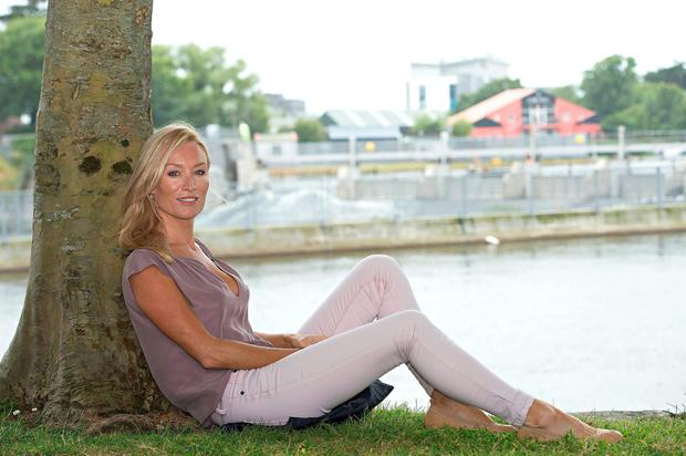 Irish actress Victoria Smurfit, who split from filmmaker Alistair Ramsden at the start of the year, is all loved-up in LA