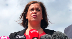 Sinn Fein leader Mary Lou McDonald is struggling to maintain electoral support. Photo: PA