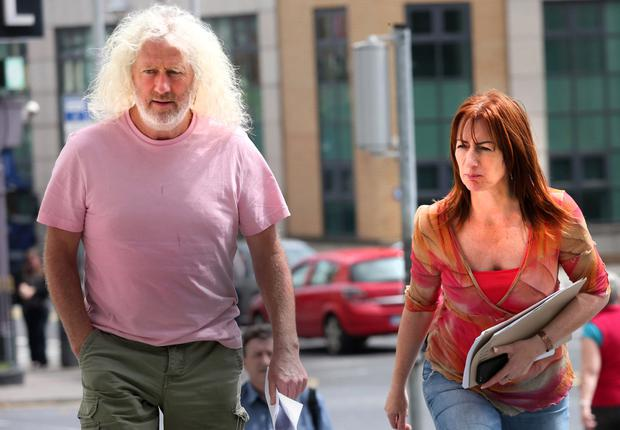 Brussels bound: Mick Wallace and Clare Daly. Photo: Collins Court