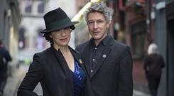 Camille and beau Aidan Gillen
