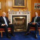 Taoiseach Leo Varadkar with British Prime Minister Boris Johnston at Government Buildings last week. Photo: Damien Eagers