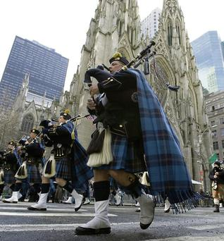 The Saint Patrick's Day parade on New York's Fifth Avenue. AP