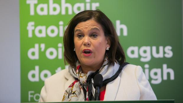 Excluded: Mary Lou McDonald has been excluded from the RTÉ debates despite a surge in the polls. Photo: Collins Dublin, Gareth Chaney
