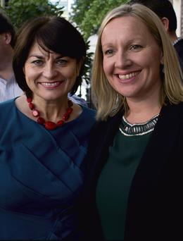 LIKE MINDS: Fidelma Healy-Eames and Lucinda Creighton, members of the Reform Alliance
