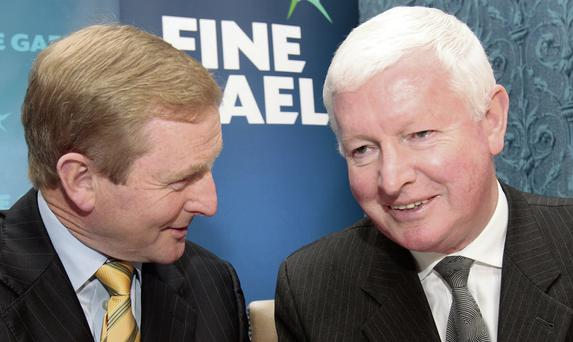 Fine Gael leader Enda Kenny with Frank Flannery, director of elections in 2009. Photo: Tom Burke
