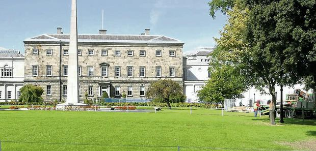 Leinster House lawn