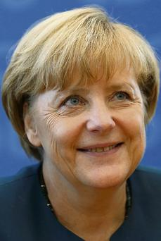GRATEFUL: Angela Merkel has much to thank us for