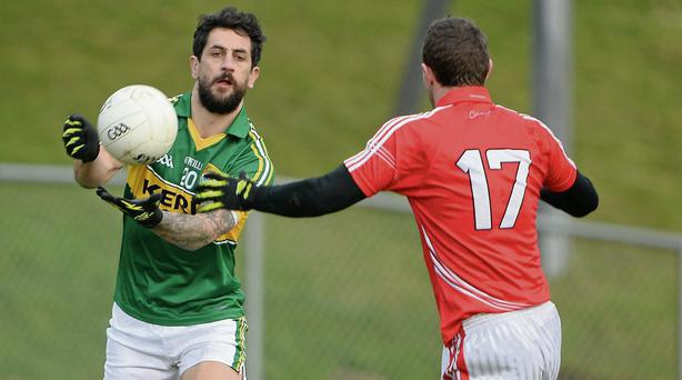 Paul Galvin in action in what turned out to be his final game in a Kerry shirt in their defeat to Cork in the McGrath Cup final Brendan Moran/sportsfile