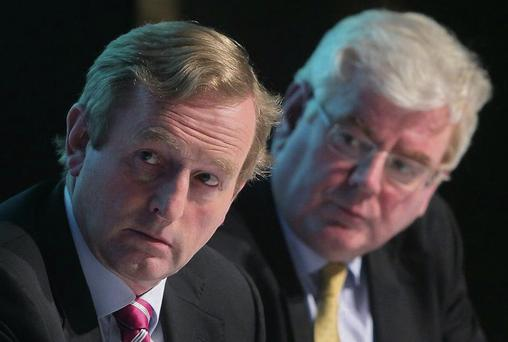 Enda Kenny and Eamon Gilmore