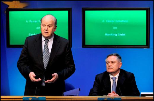Finance Minister Michael Noonan (left) and Public Expenditure Minister Brendan Howlin.