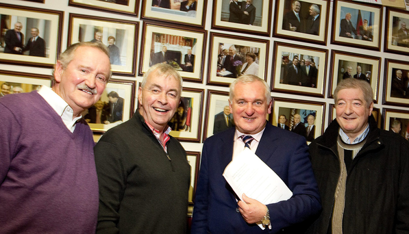 Liam Cooper, Paul Kiely, Bertie Ahern and Chris Wall at St Lukes on the occasion of Bertie announcing his retirement. Dec 2010
