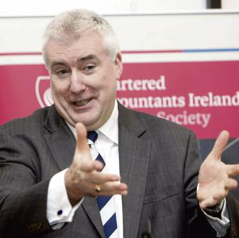 VETERAN BANK SPINNER: Pat Farrell, 'Head of Group Communication and Government Relations', at Bank Of Ireland