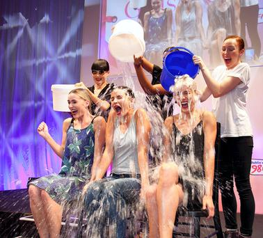 Top Irish models get a dousing in aid of the MND Ice Bucket
