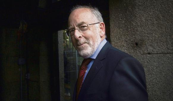 Central Bank governor Patrick Honohan at Leinster House to attend an Oireachtas Committee meeting