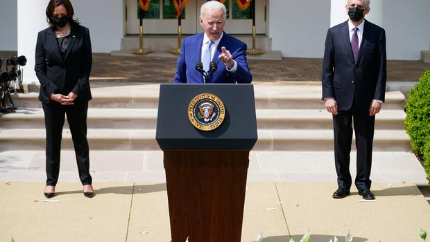 Joe Biden's shift is not a purely rhetorical one to be buried away after a glowing press conference, as we're accustomed to see here in Ireland. Photo: Andrew Harnik