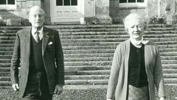 The late Sir Alfred and Clementine Beit at Russborough House, in Co Wicklow