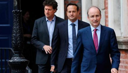 The Coalition is entering a new phase where it will no longer be able to say 'yes' on the financial side due to restrictions. Above Eamon Ryan, Leo Varadkar and Micheál Martin. Photo: Julien Behal/PA Wire