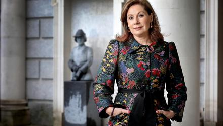 Josepha Madigan, Minister of State with responsibility for Special Education and Inclusion and the 19th woman to serve in the Cabinet, photographed before a bust of Constance Markievicz, the first female to serve in Cabinet, at Leinster House. Photo: Frank McGrath