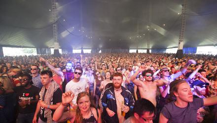 Fans at King Kong Company at the Electric Arena at the Electric Picnic, Stradbally Co.Laois. Photo:Michael Donnelly.