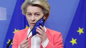 EU president Ursula von der Leyen had to quickly roll back on triggering of Article 16 of Northern Ireland protocol.Photo: Olivier Hoslet