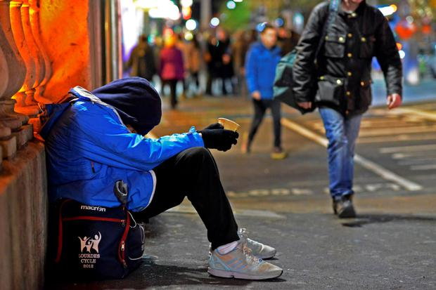 'Working in Dublin I'm horrified to see so many sleeping on the streets; more needs to be done to help those less fortunate.' (stock photo)