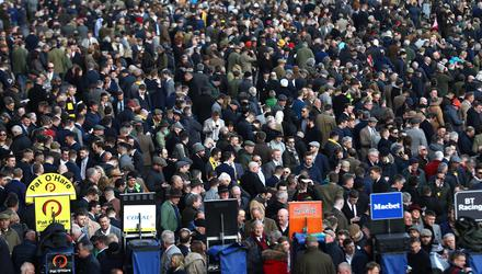 Hedging their bets: the decision to allow full crowds into the Cheltenham Festival in 2020 backfired on the UK government. Picture by Michael Steele/Getty Images