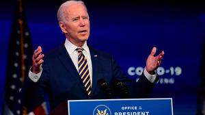 Joe Biden's victory was good news for Ireland – but he is a union man and any new trade deals will be hard fought. Photo: Mark Makela/Getty