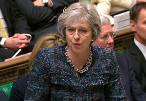 British Prime Minister Theresa May speaks to the House of Commons after setting out her plan for Brexit negotiations with the EU. Photo: Getty