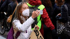 Swedish climate activist Greta Thunberg takes part in a Global Climate Strike of the movement Fridays for Future, in central Stockholm, Sweden, last week. Photo: Etrik Simander/TT News Agency via Reuters