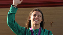 Boxer Katie Taylor returns home from London 2012 with her gold medal. 'Meeting athletes like Taylor would inspire our future sports people.' Photo: Pat Murphy/ Sportsfile