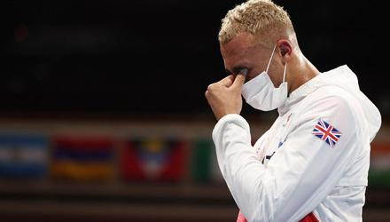 UK boxer Ben Whittaker, who was upset after failing to win gold