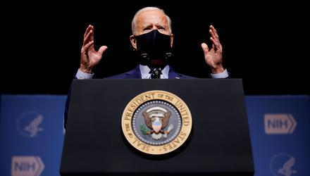 US President Joe Biden made much play of his ability to talk to the kind of blue collar American who had switched their traditional allegiance from the Democrats to the Republicans. Photo: Reuters/Carlos Barria