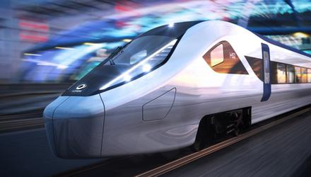 A rendering of the UK's HS2 High-speed rail train