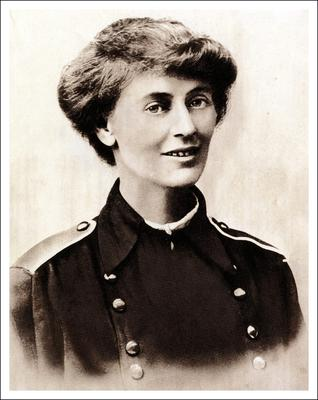 Constance Markievicz, the first woman elected to the House of Commons (Sinn Féin)