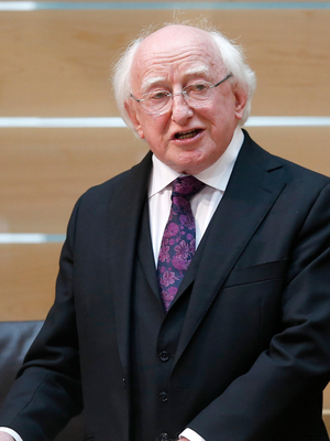 President Michael D Higgins. Photo :PA