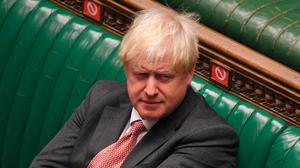 The main spotlight today was on Boris Johnson's announcement of new Covid-19 restrictions. Photo: UK Parliament/Jessica Taylor/PA Wire