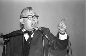 Ian Paisley at a rally in Newtownards in 1981. Photo: Pacemaker Press.