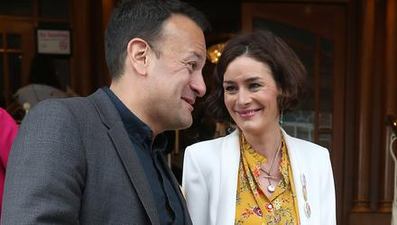 Full of praise: Leo Varadkar and Kate O'Connell. Photo: Damien Eagers