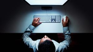 Blank screens don't help when writing theses. (Stock image)
