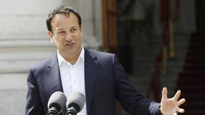 Difficult position: Leo Varadkar is at the helm of a caretaker government, but how much longer can the situation go on? Photo: AP