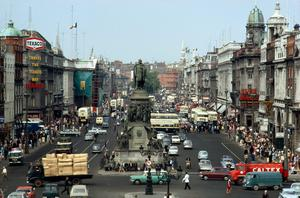 Dublin's O'Connell Street in the 1960s. Photo: RTE