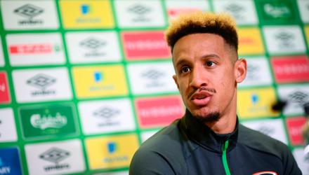Callum Robinson during a Republic of Ireland press conference. Picture by Stephen McCarthy/Sportsfile