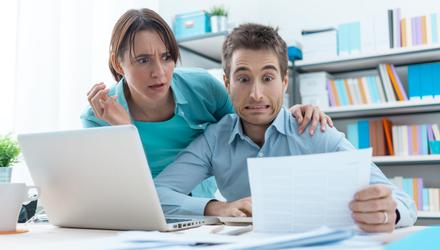Pressure: Finances can put a great strain on a couple's relationship. Photo: Posed